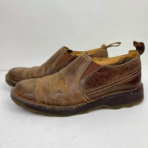 DR MARTENS Men's Air Wair Jethro Shoes 11 M Brown Leather Boots Slip On Loafers